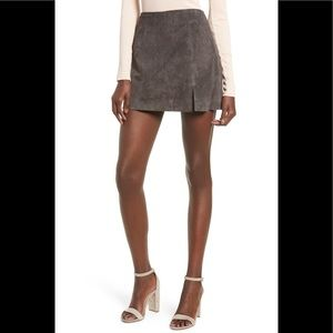 NWT Blank NYC Suede Mini Skirt